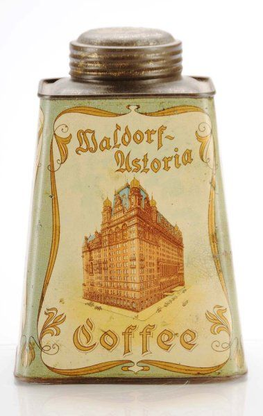 Waldorf astoria coffee vintage coffee cans w for Waldorf astoria antiques