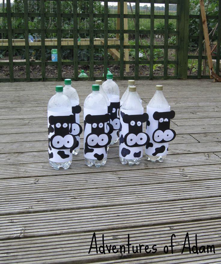 Adventures of Adam cow skittles outdoor party game