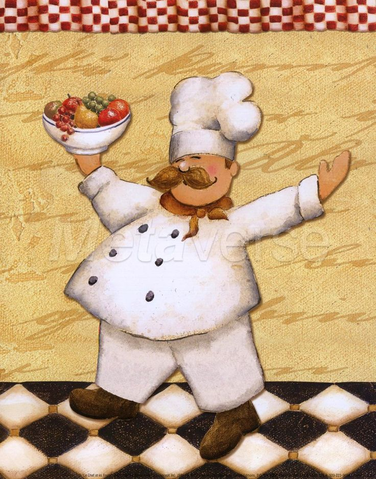 318 best art: #9 images on Pinterest | Chefs, Chef kitchen and ...