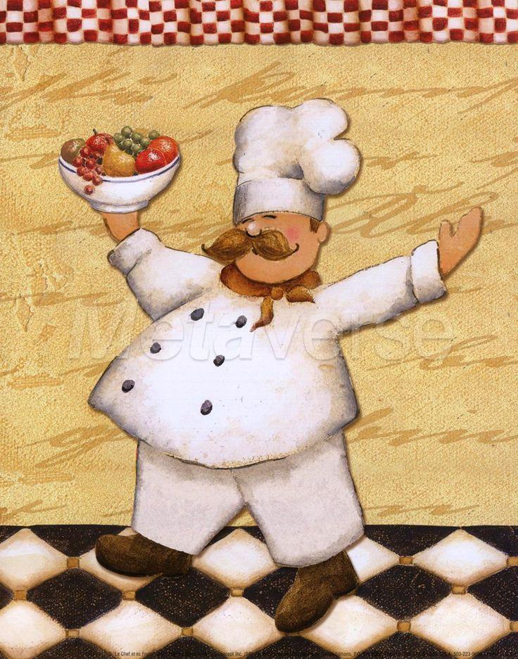 Best Free Fine Art Coffee Images | Le Chef Et Le Fruits By Daphne  Brissonnet Art