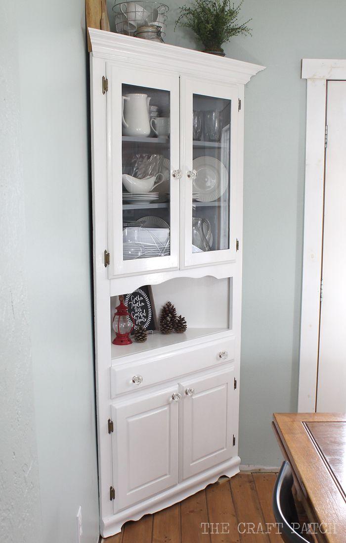 Corner Hutch Furniture Makeover