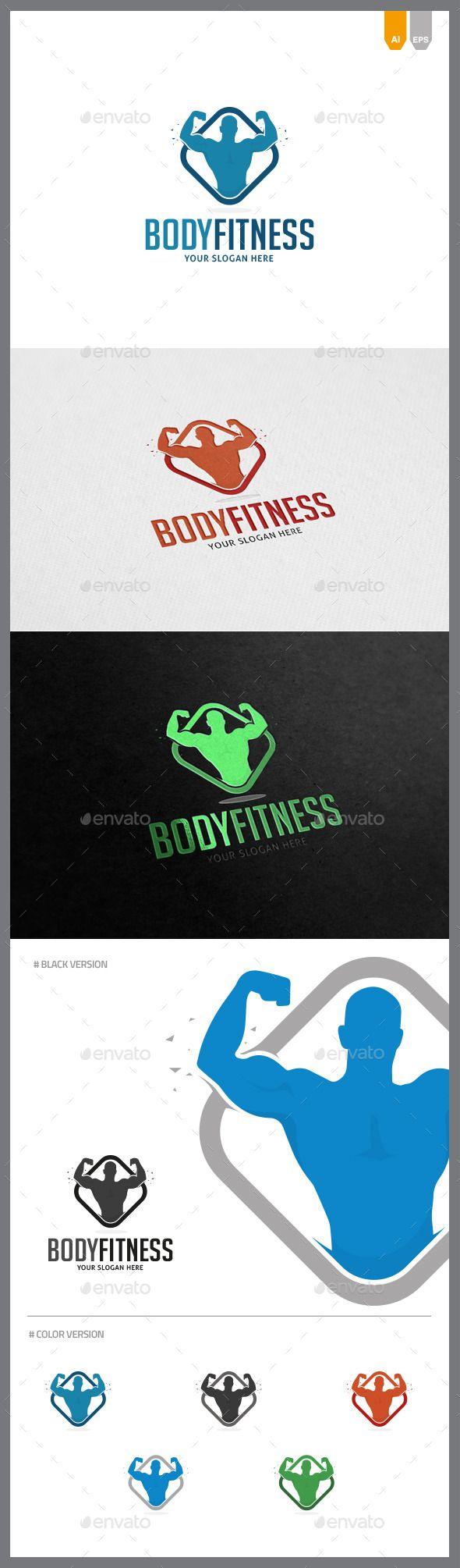 Body Fitness  - Logo Design Template Vector #logotype Download it here: http://graphicriver.net/item/body-fitness-logo/9657017?s_rank=972?ref=nesto