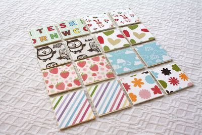 How to make a memory game with Mod Podge!