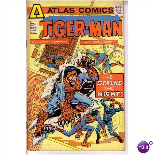 Atlas Seaboard Comics Tiger-Man #2 June 1975 on eBid United Kingdom