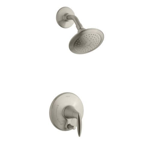 Kohler K-T45108-4 Alteo Single Handle Pressure Balanced Tub and Shower Valve Trim Less Valve with Metal Lever Handle, Single (Two holes - Chrome (Grey) Finish)