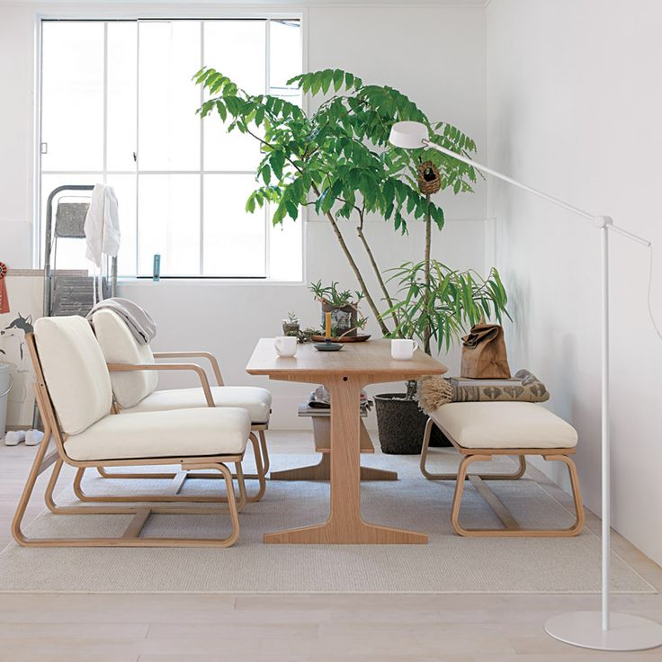 Living Dining Chair And Table From Muji Living Room