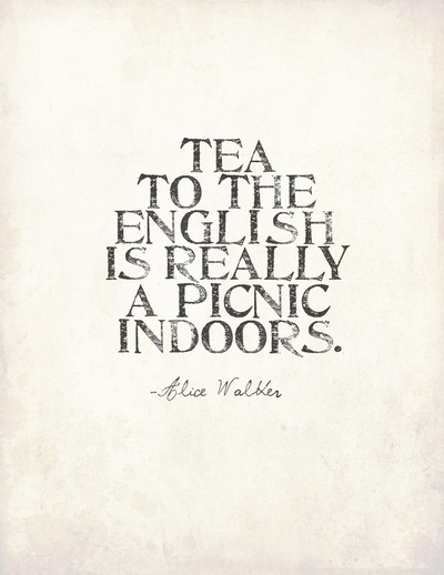 I love this quote. Great addition to any English (or wanna be English) kitchen!