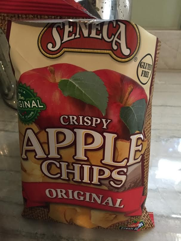 Seneca Apple Chips - gluten free and super delicious. Often found in the produce section.