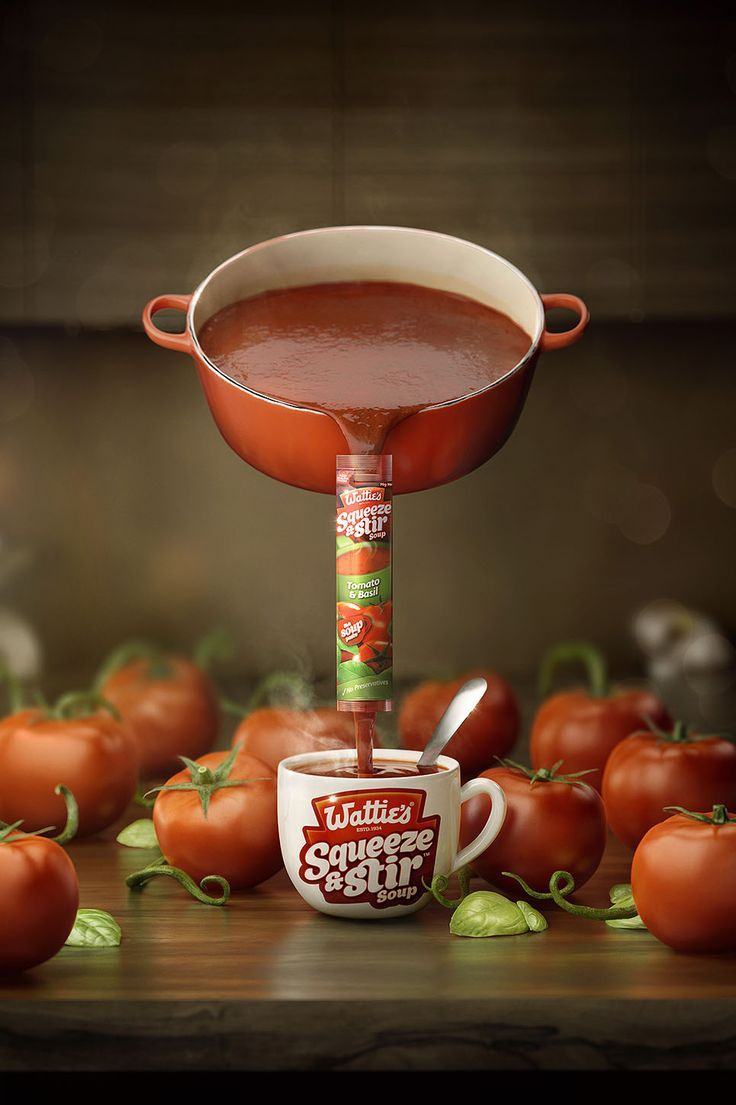 Wattie's Squeeze & Stir on Behance
