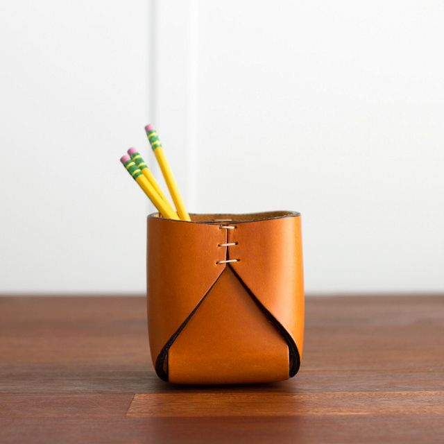 Leather Pencil Holder #giftsfordad