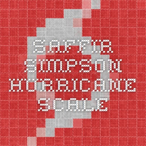 Saffir-Simpson #Hurricane Scale