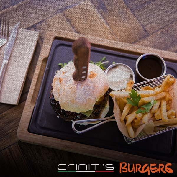 Criniti's gourmet burgers like no other!