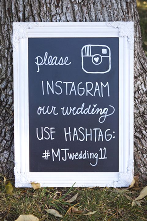 Unique and Chic Weddings : Wedding Signs We Love. since everyone is tech savvy now, mine as well do this