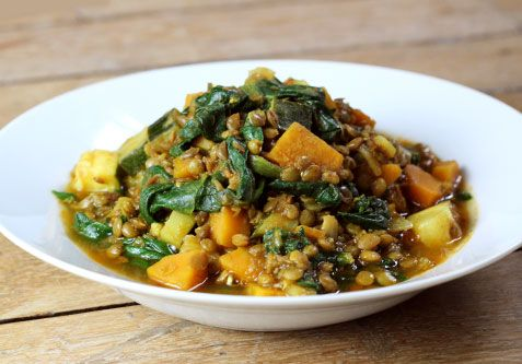 Indian style lentil stew with carrots and ground coriander. gotta try this!