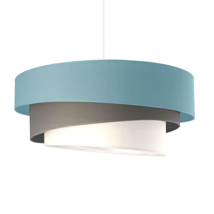 IONOS - Lampa wisząca Niebieski, Szary, Biały Śr.58cm Metropolight