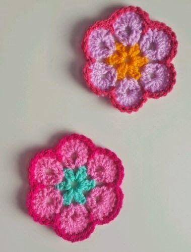 Easy African Flower Crochet Pattern : Crochet, Flower and Africans on Pinterest