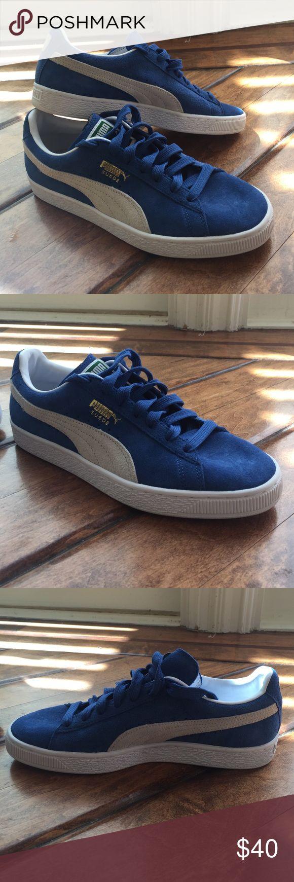 Puma suede shoes blue puma suede shoes NEVER WORN Puma Shoes Sneakers