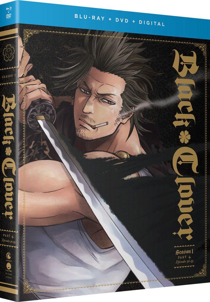 Black Clover Season 1 Part 4 Bluray/DVD Anime dvd