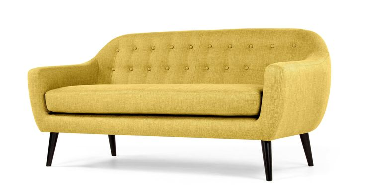 Ritchie 3 Seater Sofa, Ochre Yellow