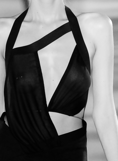 Asymmetric Dress - elegant geometric fashion details // Anthony Vaccarello