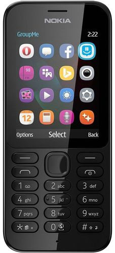 Мобильный телефон NOKIA 222 SS Black – интернет-магазин Эльдорадо