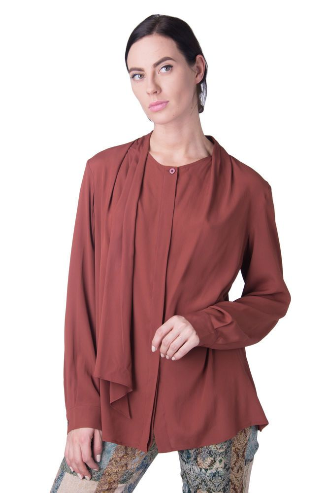 da7ab341e0ea1c MARINA RINALDI Top Blouse Plus Size 48   S Silk Blend Tie Detail RRP 197   fashion  clothing  shoes  accessories  womensclothing  tops (ebay link)