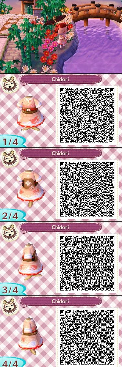Animal Crossing New Leaf QR codes: Chidori Kimono