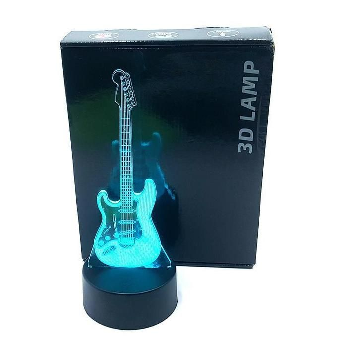 Designed For Guitarists A One Of A Kind Store Committed To Provide Unique Guitar Accessories And Value In 2020 Guitar Lamp Led Color Changing Lights 3d Illusion Lamp