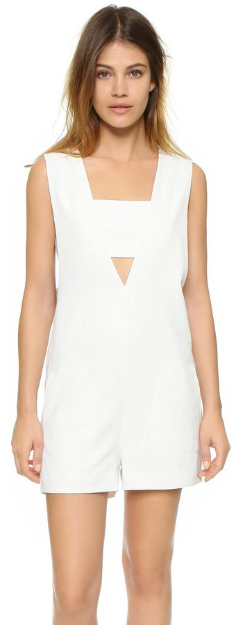 T by Alexander Wang Low V Bandeau Romper