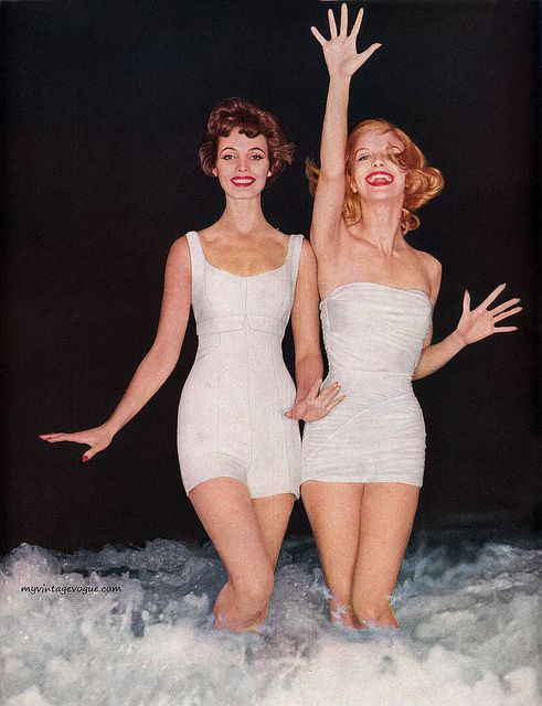 High Fashion Ads 1950 | collection of vintage photos of swimwears from 1930s to 1950s