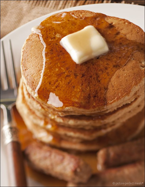 Wake Me Up With Gingerbread Pancakes | This stack of pancakes are farm from ordinary.  Flavored with molasses,  ginger, nutmeg, allspice and more, these pancakes are packed with flavor.