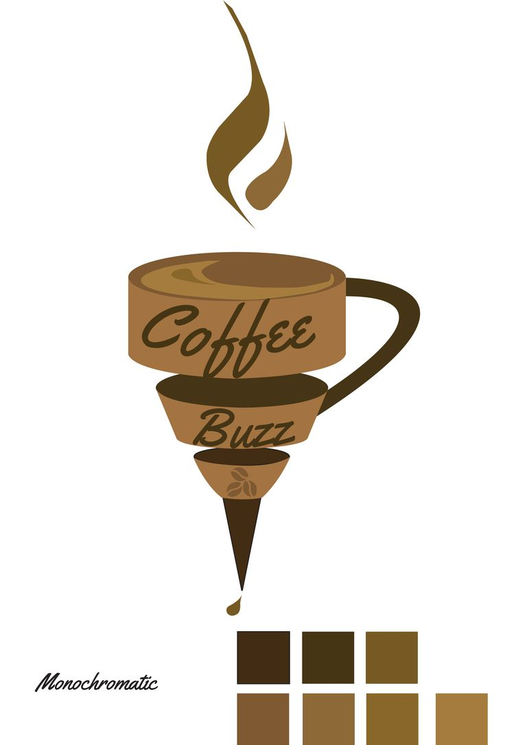 Coffee Buzz in Monochromatic colours