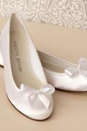 Buty ślubne na płaskim obcasie-8