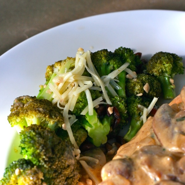 Broccoli With Garlic, Pine Nuts, And Asiago Cheese Recipe ...