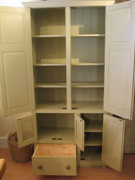 Freestanding Kitchen Larder Cupboard with Microwave Housing - something like this but without the microwave housing