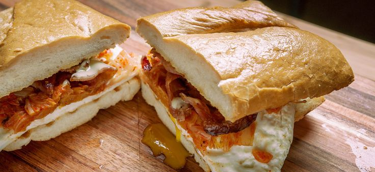 Fried-Egg Sandwich with Kimchi and Bacon by Tim Dornon, souschefseries ...