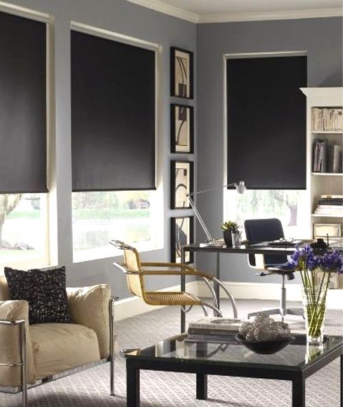 I've pulled together a collection of 28 modern rooms with white roller shades, black roller shades, and DIY roller shades.