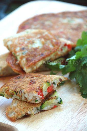 Koreanische Gemüsepfannkuchen - glutenfrei und vegan