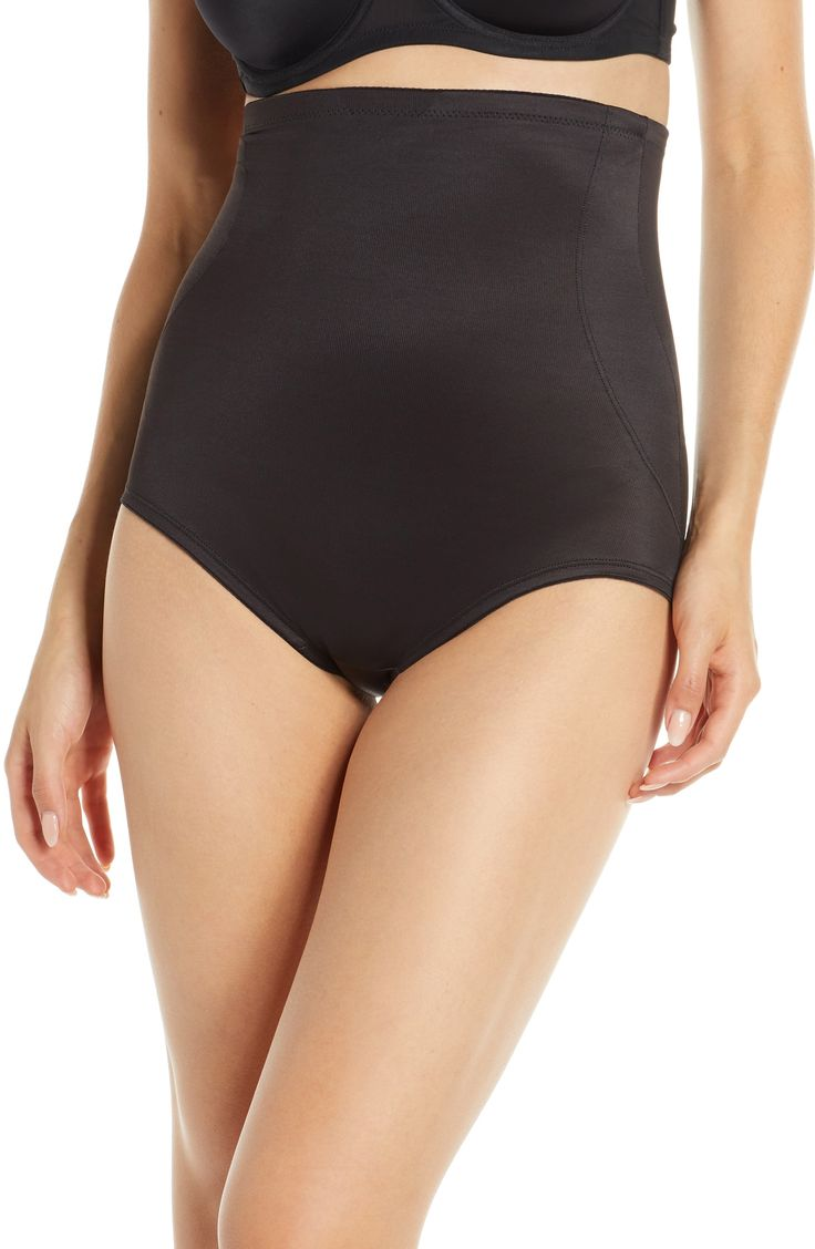 Women's Miraclesuit Back Magic High Waist Shaping Briefs, Size Small – Black