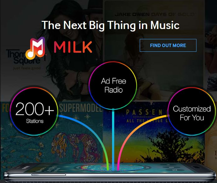 'Milk Music' launched by Samsung, offers free radio for Galaxy Users - http://www.aivanet.com/2014/03/milk-music-launched-by-samsung-offers-free-radio-for-galaxy-users/