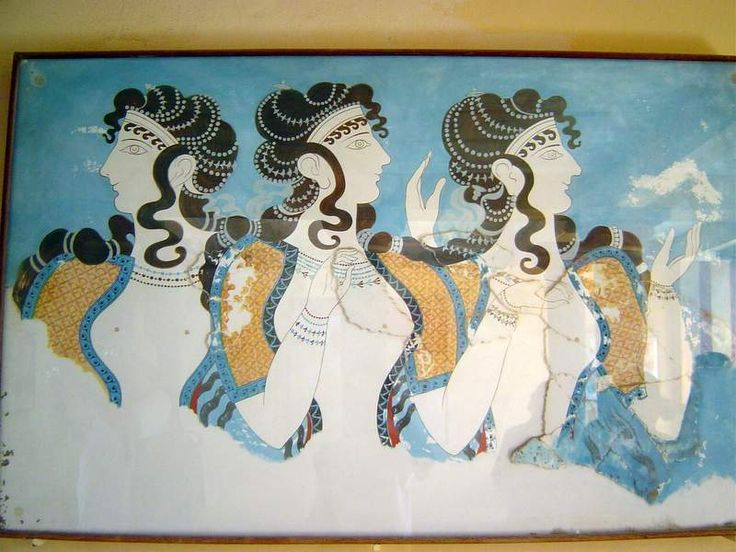 Fresco of women, Knossos, Crete Photo: Juan Manuel Caicedo