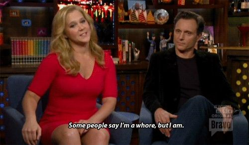 "Amy Schumer's Housewives tagline. | The 54 Most Iconic Moments In Five Years Of ""Watch What Happens Live"""