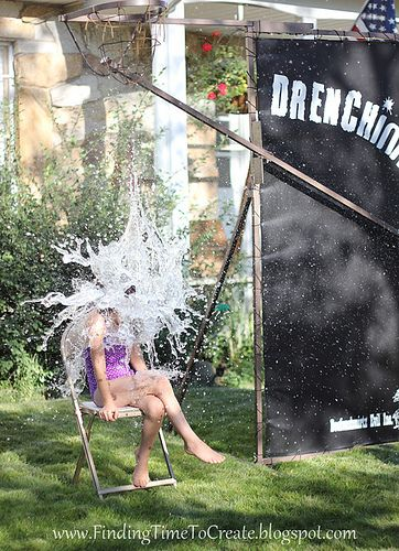 """""""The Drenchinator 3000"""" (alternative to a dunk tank) for summer fun! #silhouettedesignteam"""