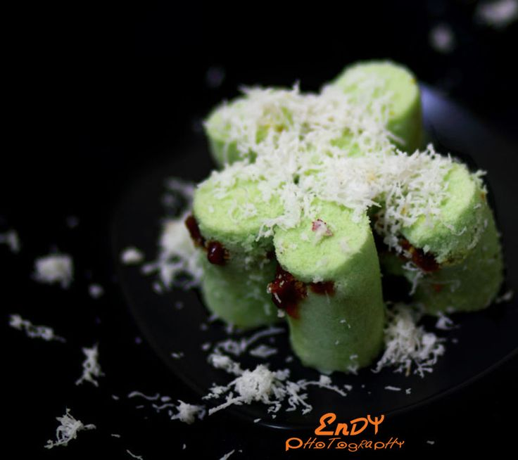 Kue Putu or Putu Bamboo is an Indonesian traditional cake, consists of palm sugar wrapped with rice flour... it's cooked by steaming it i...