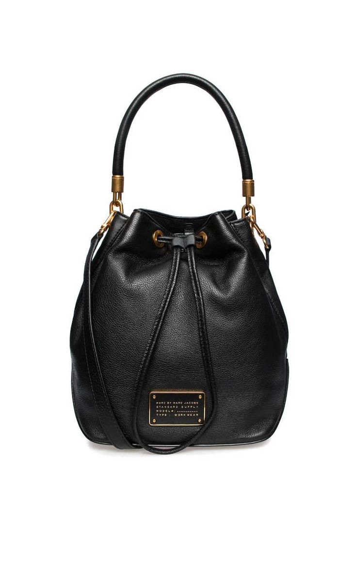 Axelremsväska New Too Hot To Handle LG Drawstring BLACK/GOLD - Marc by Marc Jacobs - Designers - Raglady