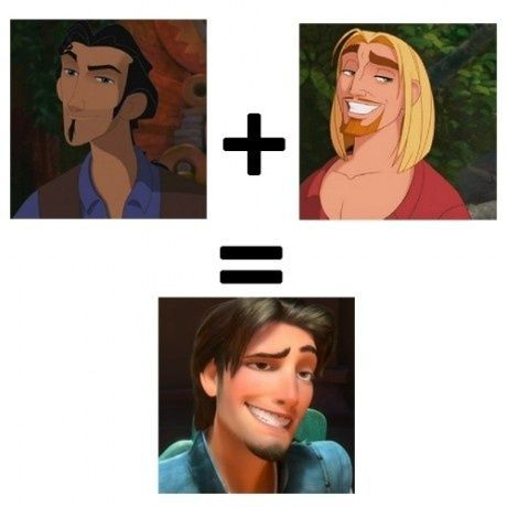road to el dorado and tangled   tulio + miguel= flynn rider  WOAH ALSO! The horse = max WUT
