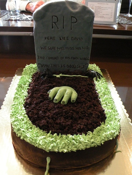 Cemetery Birthday Cake