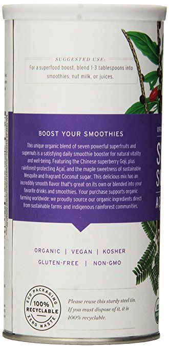 Amazon.com : Essential Living Foods Superfood Smoothie Mix, 14.5 Ounce : Nutrition Bars : Grocery & Gourmet Food