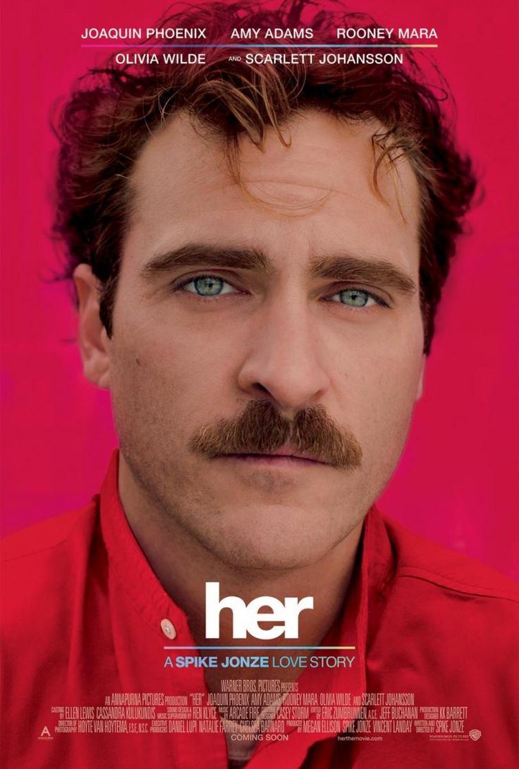Her (2013)  · A lonely writer develops an unlikely #relationship with his newly purchased operating system that's designed to meet his every need. · Director: Spike Jonze