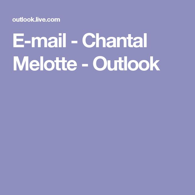 E-mail - Chantal Melotte - Outlook